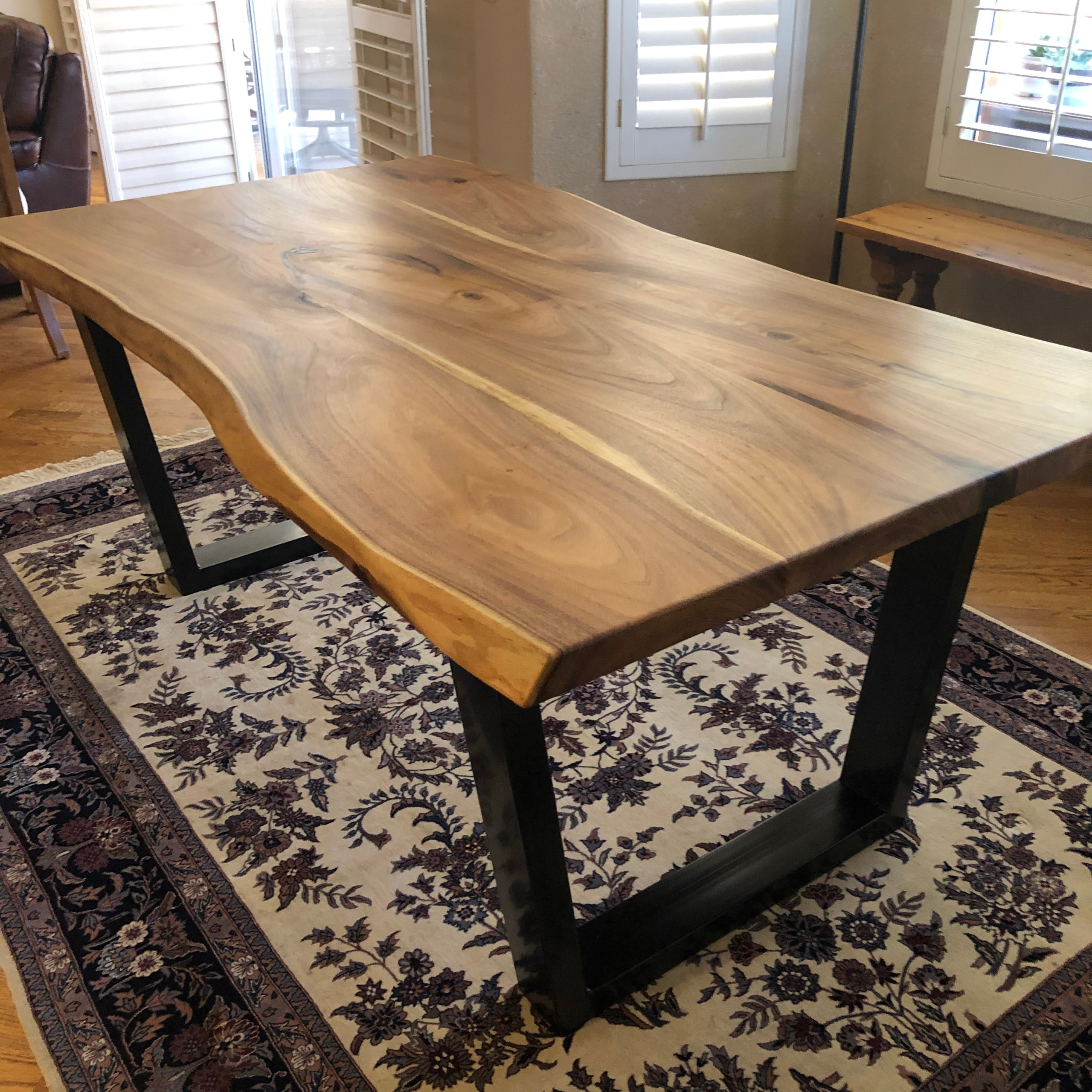 Live Edge Mesquite Dining Table